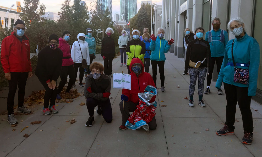 toronto power walkers walk for sunnybrook lung cancer